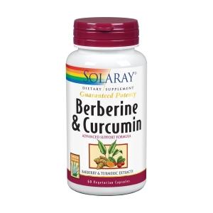 Berberina & Curcuma 500mg – Solaray – 60capsulas