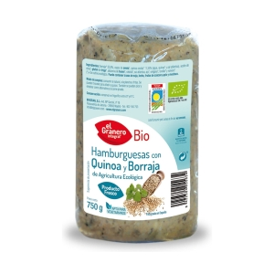Hamburguesa Vegetal con Quinoa y Borraja Bio – El Granero Integral – 750 gr