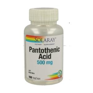 Acido Pantoténico 500mg – Solaray – 100 capsulas