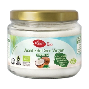 Aceite de Coco Virgen Bio – El Granero Integral – 250 ml