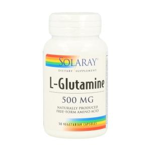 L-Glutamina 500mg – Solaray – 50 capsulas