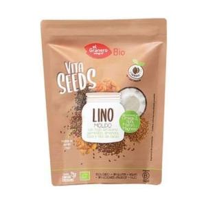 Vitaseeds Lino Molido con Trigo Sarraceno, Nibs de Cacao y Almendras Bio