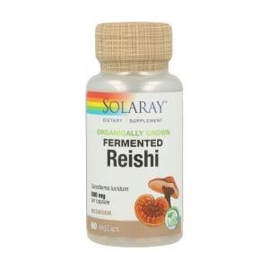 Reishi Fermentado 500mg – Solaray – 60 capsulas
