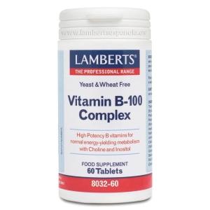 Complejo B 100 mg con todas las vitaminas B. Una al día – 60