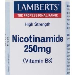 Niacina como Nicotinamida o Vitamina B3 250 mg – 100