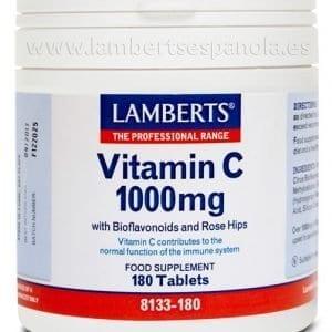 Vitamina C 1000 mg con Bioflavonoides y Escaramujo 180 tabletas – 180