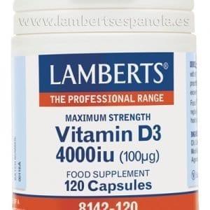 Vitamina D como D3, colecalciferol 4000 UI (100 mcg) 120 cápsulas – 120