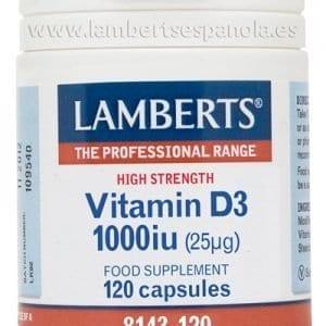 Vitamina D como D3, colecalciferol 1000 UI (25 mcg) 120 cápsulas – 120