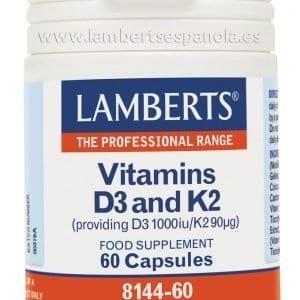 Vitamina D3 1000 UI y Vitamina K2 90 mcg en cápsulas – 60