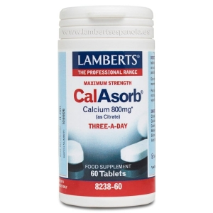 CalAsorb®, Calcio 800 mg como Citrato y Vitamina D3 60 tabletas – 60 Tabletas
