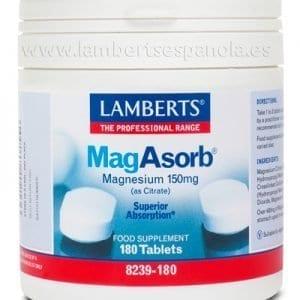MagAsorb®. Citrato de Magnesio 150 mg, más absorción 180 tabletas – 180 Tabletas