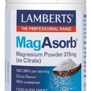 MagAsorb®. Magnesio en polvo como Citrato, muy soluble – 165 gr
