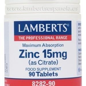 Zinc 15 mg como Citrato con mayor absorción y 90 tabletas – 90 Tabletas