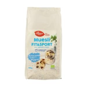 Muesli Fit&Sport con Quinoa y Coco Bio – El Granero Integral – 500 gr