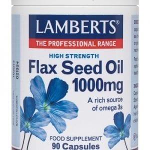 Aceite de Semillas de Lino 1000 mg rico en Omega 3 – 90 Cápsulas