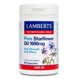 Aceite de Borraja Puro 1000 mg con 220 mg de GLA por cápsula – 90 Cápsulas