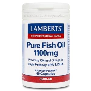 Aceite de Pescado Puro 1100 mg con 700 mg de Omega 3 – 60 Cápsulas