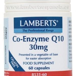 Co-Enzima Q10 30 mg (CoQ10 o ubiquinona) – 60 Cápsulas