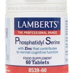 Fosfatidilserina 100 mg de Soja + Zinc – Lamberts –  60 comprimidos