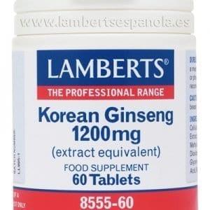 Ginseng Coreano 1.200 mg – Lamberts – 60 comprimidos