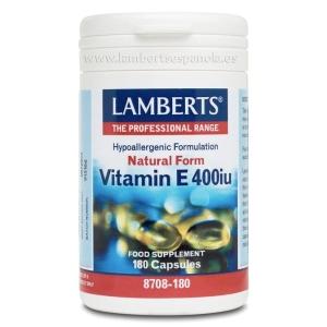 Vitamina E Natural 400 UI (268 mg) como d-alfa tocoferol cápsulas – 180