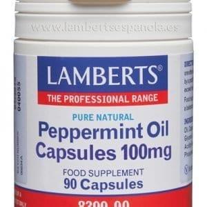 Aceite de Menta 100 mg – Lamberts – 90 cápsulas