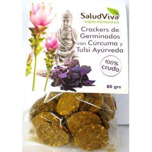 Crackers con Germinados con Cúrcuma y Tulsi Ayurveda ECO 80g