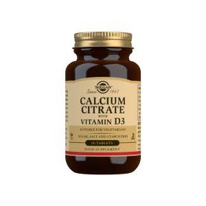 Citrato de Calcio con Vitamina D3 – Solgar – 60 comprimidos