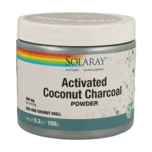Activated Coconut Charcoal (Carbón Activo) – Solaray – 150gr