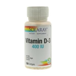 Vitamina D3 400 UI- Solaray – 120perlas