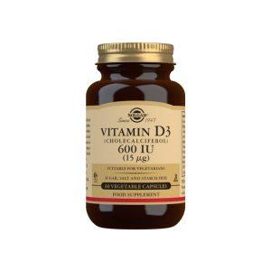 Vitamina D3 600 UI – Solgar – 60 cápsulas