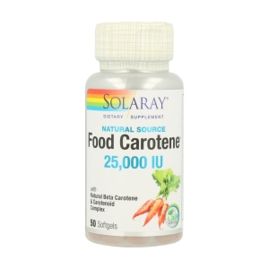 Food Carotene – Solaray – 50 perlas