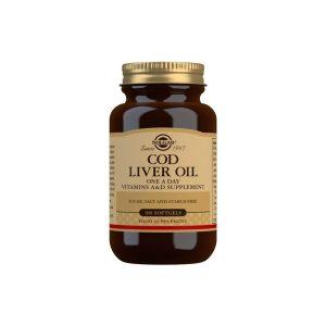Aceite de Hígado de Bacalao (una al día) – 100 cápsulas blandas