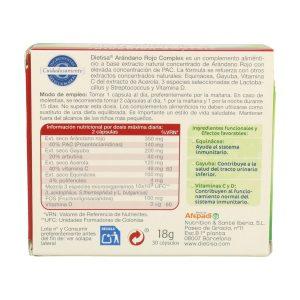 Arándano rojo complex – Dietisa – 30 cápsulas