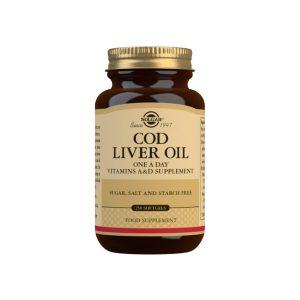 Aceite de Hígado de Bacalao (una al día) – 250 cápsulas blandas