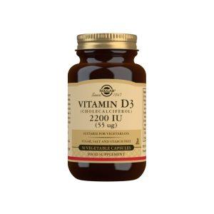 Vitamina D3 2.200 UI – Solgar – 50 cápsulas