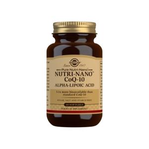 Nutri-NanoTM CoQ-10 con Ácido Alfa-Lipoico – Solgar – 60 Cápsulas blandas