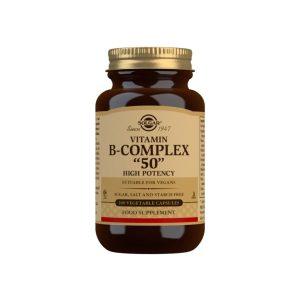 Vitamina B-Complex 50 – Solgar – 100 cápsulas