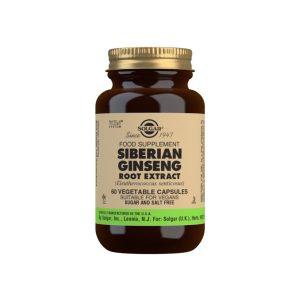 Ginseng Siberiano Extracto de Raíz – Solgar – 60 Cápsulas vegetales