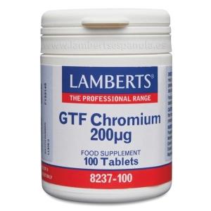 Cromo GTF 200 mcg como Picolinato. Una al Día – 100 Tabletas