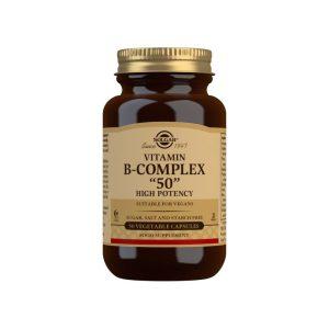"Vitamina B-Complex ""50"" Alta potencia – 50 Cápsulas vegetales"