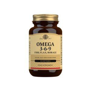 Omega 3-6-9 (Pescado, Lino y Borraja) – 60 Cápsulas blandas