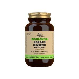 Ginseng Coreano Extracto – Solgar – 60 cápsulas