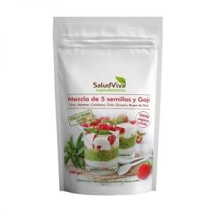 Mezcla 5 semillas + Goji 200gr