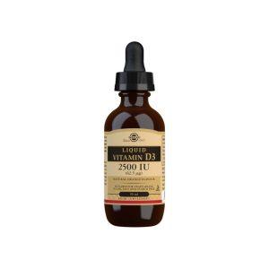 Vitamina D3 Líquida 2500 UI – Sabor naranja natural – Solgar – 59 ml