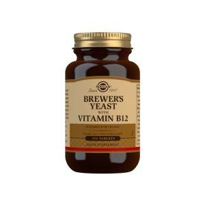 Levadura de Cerveza con Vitamina B12 – Solgar – 250 Comprimidos