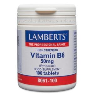 Vitamina B6 o Piridoxina 50 mg – 100