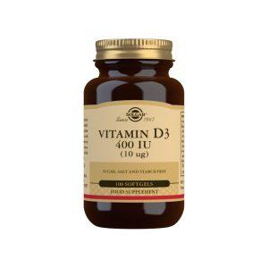 Vitamina D3 400 UI – Solgar – 100 perlas
