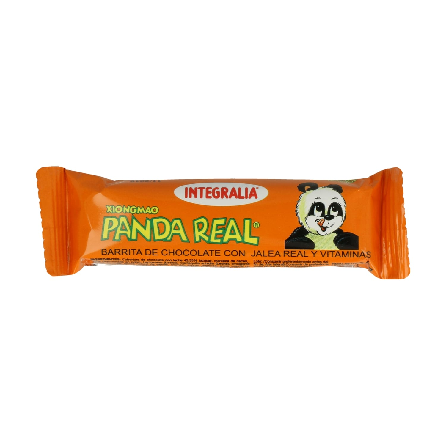 Barrita Panda Real (Chocolate con Jalea Real y Vitaminas) – Integralia – 30 gr
