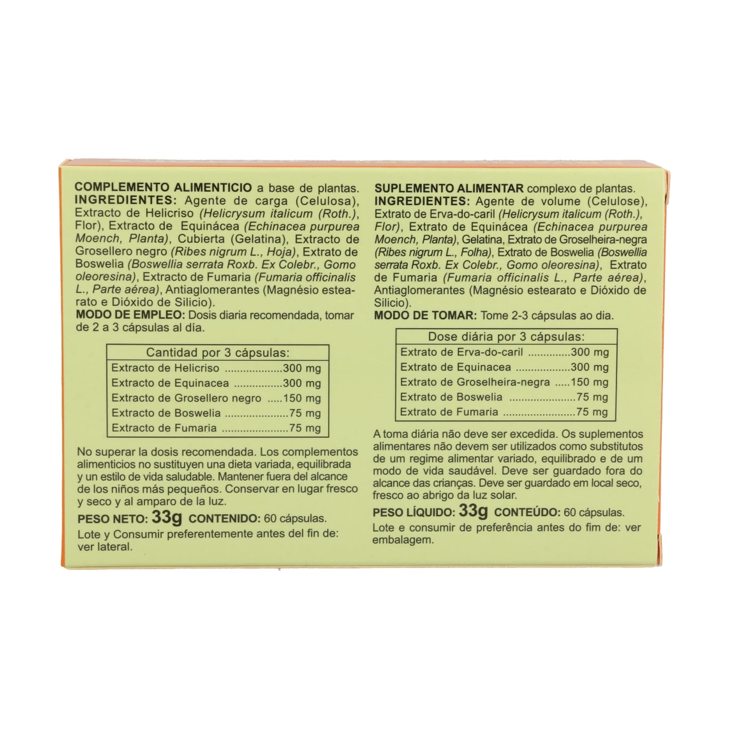 Helicriso Plus – Integralia – 60 cápsulas